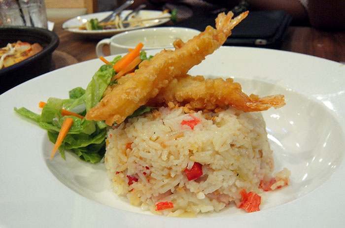 tempura prawn garlic rice
